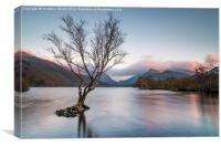 Sunset at Llyn Padarn, Canvas Print