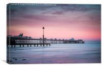 Sunset at Llandudno Pier, Canvas Print