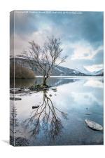 Llyn Padarn Winter Reflections, Canvas Print