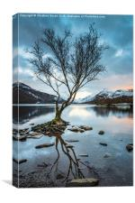 As Darkness Falls - Llyn Padarn, Canvas Print