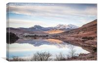 Snowdon Horseshoe Winter Reflections, Canvas Print