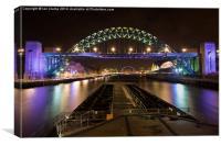 Down Tyne at night, Canvas Print