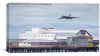 Vulcan over the pier, Canvas Print