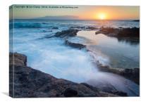 Rockpool waves, Canvas Print