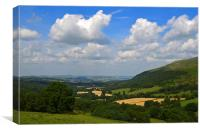 Upper Tarrell Valley, Canvas Print