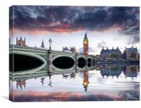 London at Dusk, Canvas Print