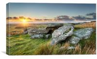 Sunset on the Moors, Canvas Print