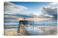 Surf at Boscombe Beach, Canvas Print