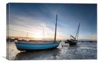 Boats in the Harbor, Canvas Print