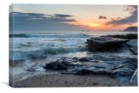 Sunset at Boobys Bay, Canvas Print