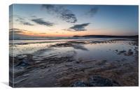 Sandy Beach Sunset, Canvas Print