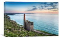 Wheal Coates on the Cornish Coast, Canvas Print