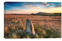 Bodmin Moor in Cornwall, Canvas Print