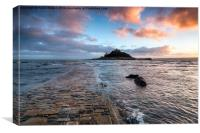 St Michael's Mount in Cornwall, Canvas Print