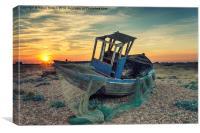 Abandoned Fishing Boat wtih Nets, Canvas Print