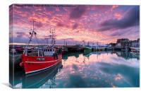 Sunrise at Padstow, Canvas Print