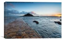 Sunset at Marazion, Canvas Print