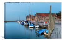 The Quay at Blakeney in Norfolk, Canvas Print