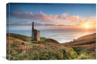 Sunset at Rinsey Head, Canvas Print