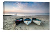 Boats on Bournemouth Beach, Canvas Print