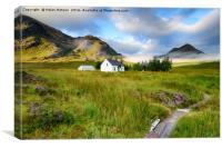 Remote Mountain Cottage, Canvas Print
