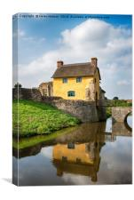 Stogursey Castle in Somerset, Canvas Print