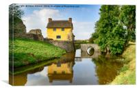 Cottage on a Moat, Canvas Print