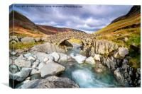 Stockley Bridge at Autumn, Canvas Print