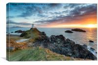 The lighthouse on Ynys Llanddwyn , Canvas Print