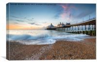 Dawn at Eastbourne Pier, Canvas Print