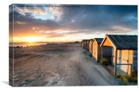 Sunset at West Wittering, Canvas Print