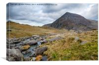 Afon Idwal in Snowdonia, Canvas Print