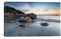 Cornwall Beach, Canvas Print