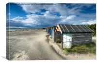 Pretty Beach Huts in Sussex, Canvas Print