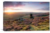 Stunning Sunset over Derwent Edge, Canvas Print