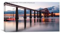 Sunset over the Forth Bridge, Canvas Print
