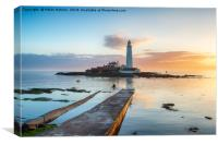 St Mary's Island at Whitley Bay, Canvas Print
