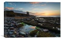 Keiss Castle at Caithness in Scotland, Canvas Print
