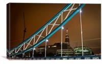 Shard from Tower Bridge, Canvas Print