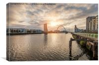 River Clyde, Canvas Print