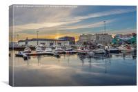 Harbour Sunrise, Canvas Print