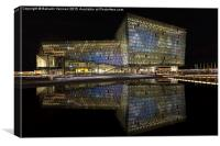 Harpa Concert Hall, Canvas Print