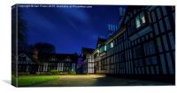 Tudor Building at Night, Canvas Print