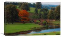 Bridge on the river, Canvas Print