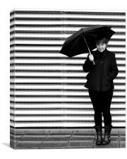 Waiting in the rain, Canvas Print