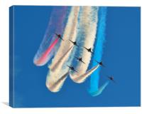 Red White & Blue - Red Arrows, Canvas Print