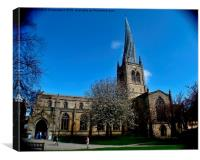 Crooked Spire, Chesterfield, Canvas Print