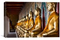 Golden Buddhas, Canvas Print