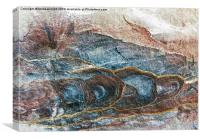 Rockface in Petra, Canvas Print