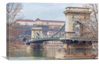 Chain bridge, Canvas Print
